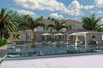 turks and caicos contruction, villa